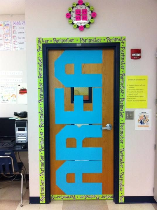 Classroom Door Decoration Ideas Rd Grade : Area and perimeter visual ashlee outsen swales stephanie