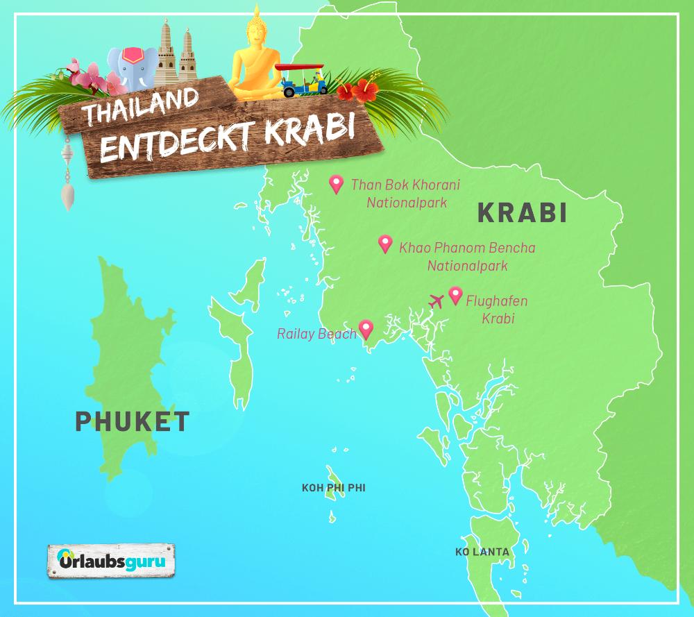 Krabi In An Der Westkuste Von Thailand Urlaubsguru In 2020 Urlaubsguru Krabi Thailand Urlaub