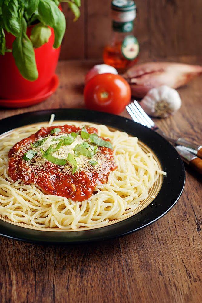 Magda Kucharzy Spaghetti Alla Marinara Spaghetti Marinara Healthy Recipes