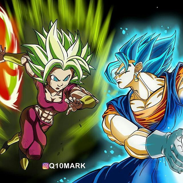 Kefla Vs Vegetto Anime Dragon Ball Super Anime Dragon Ball Dragon Ball Art