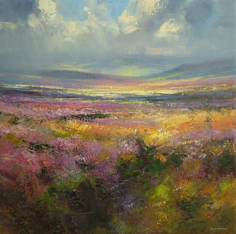 Rex Preston 1948 Abstract Painting Art Landscape Paintings