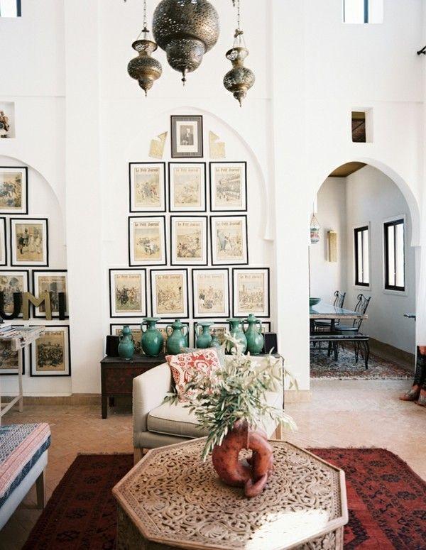 marokkanische lampe wohnzimmer beleuchten schöne deko - lampe für wohnzimmer
