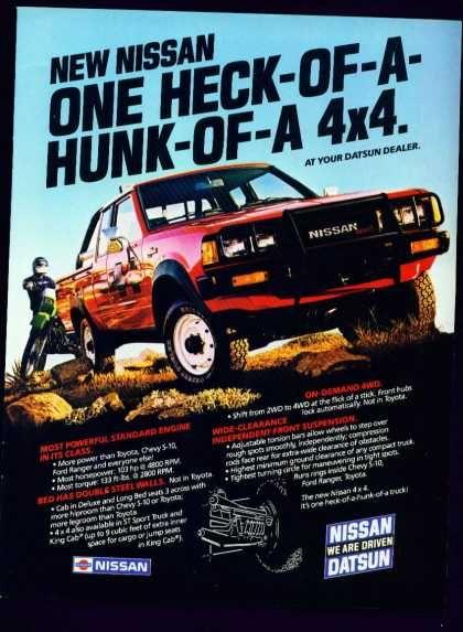 Datsun Truck Ad Datsun Pickup Datsun Nissan Trucks