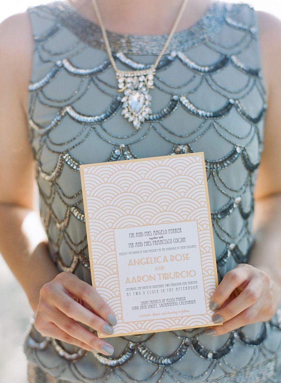 Art Deco Inspired Wedding at Sacramento Grand Ballroom   California ...