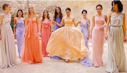 The Prettiest Bridesmaid Dresses Ever At Lauren Santo Domingo S Wedding Voguemagazine Laurensantodomingo