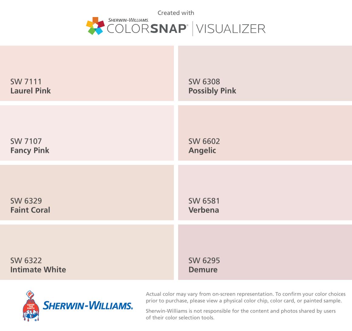 Pale Pink Paint Colors Images
