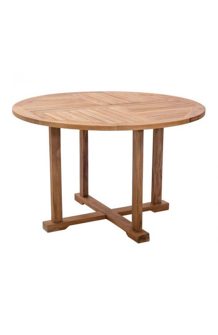 Regatta Modern Elegant Natural Wood Round Dining Table