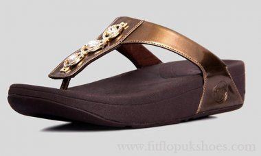 Womens Fitflop Bronze Sandals New Style Three Dill