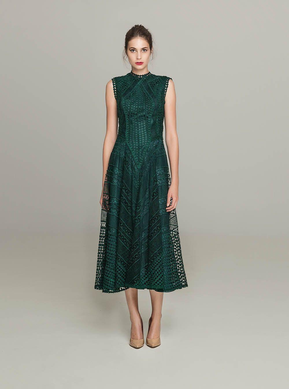 44da1952bf0f b>PR 1652 <br>Sleeveless Guipure Lace Open Back Midi Dress, Deep ...