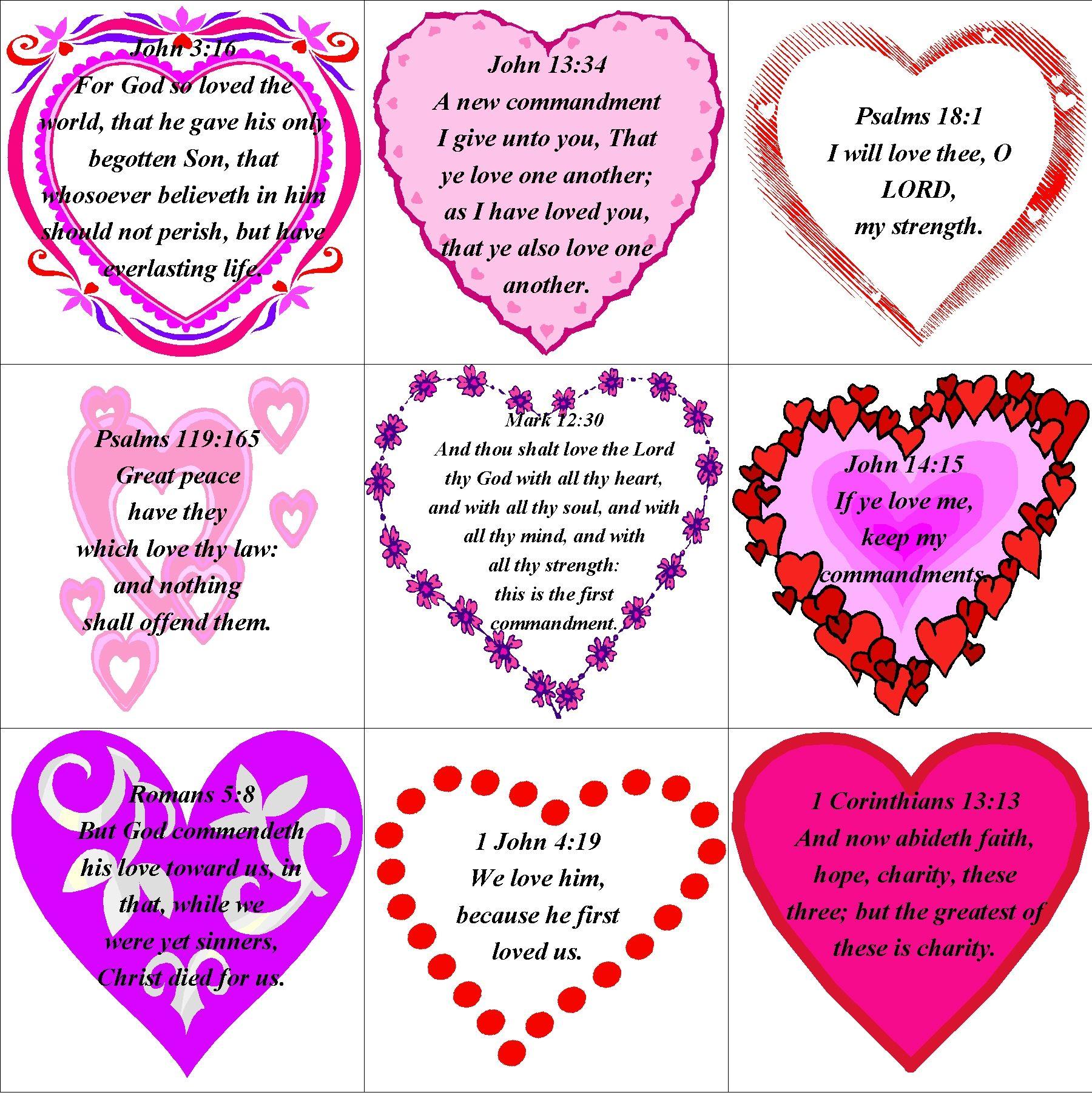 Valentine Printable Memory Verses