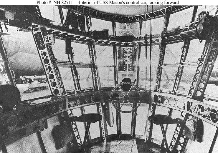 Inside an airship control car.