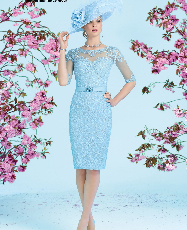 Ronald Joyce Dress with Coat 991230, colour Blue. | Vestido ...
