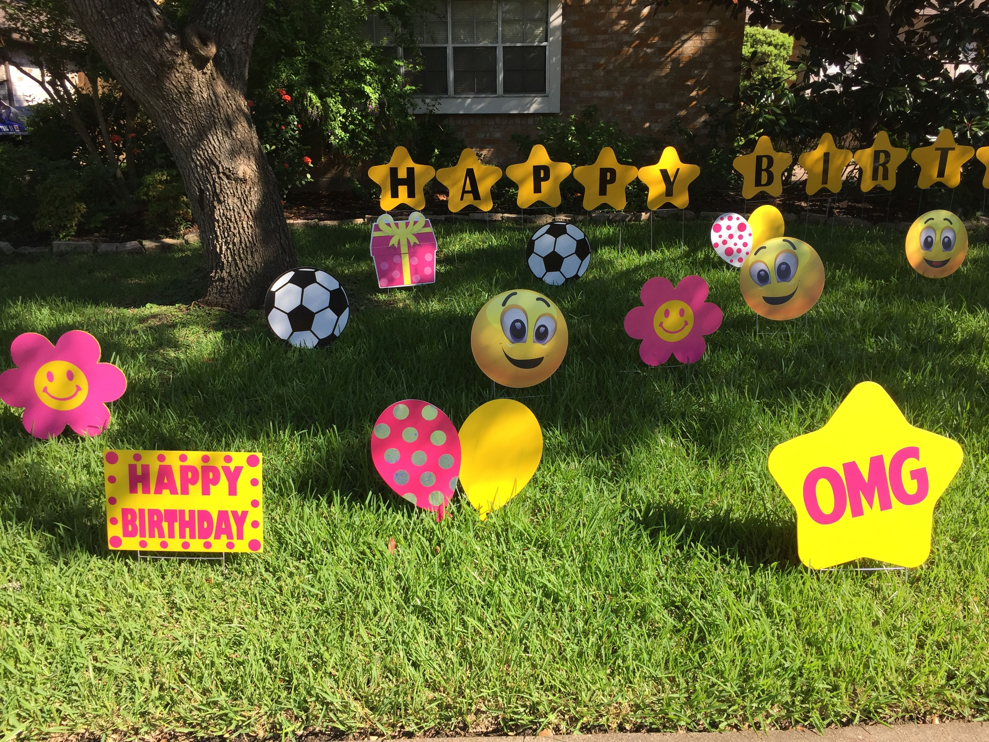 Emojis pink yellow colors for a birthday are adorable for Decoration emoji