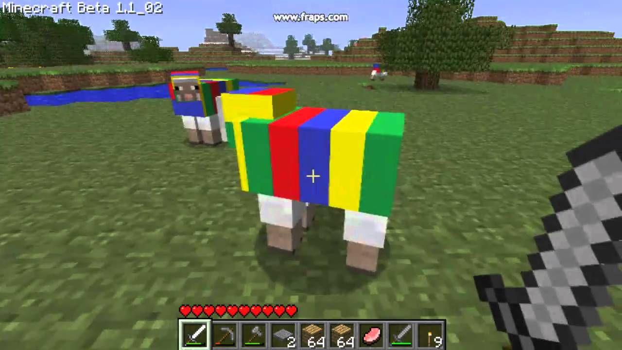 какое имя надо написать чтобы овца была радужным в майнкрафте #5