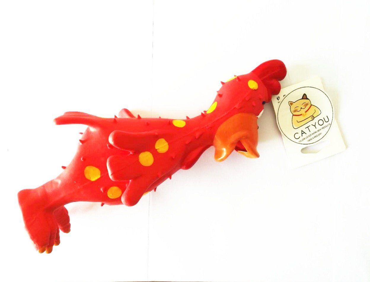 Cute Rainbow Bone Squeaky Dog Chew Toys Dog Toys Pet Toys Dog
