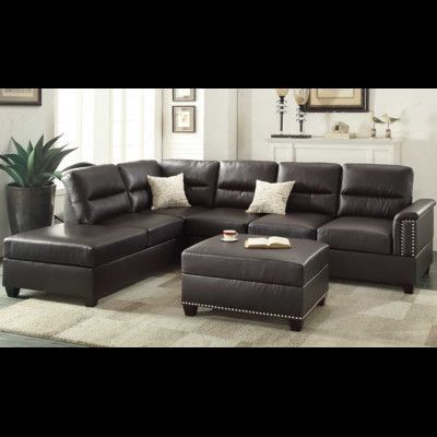 a j homes studio eddie reversible sectional with ottoman wayfair