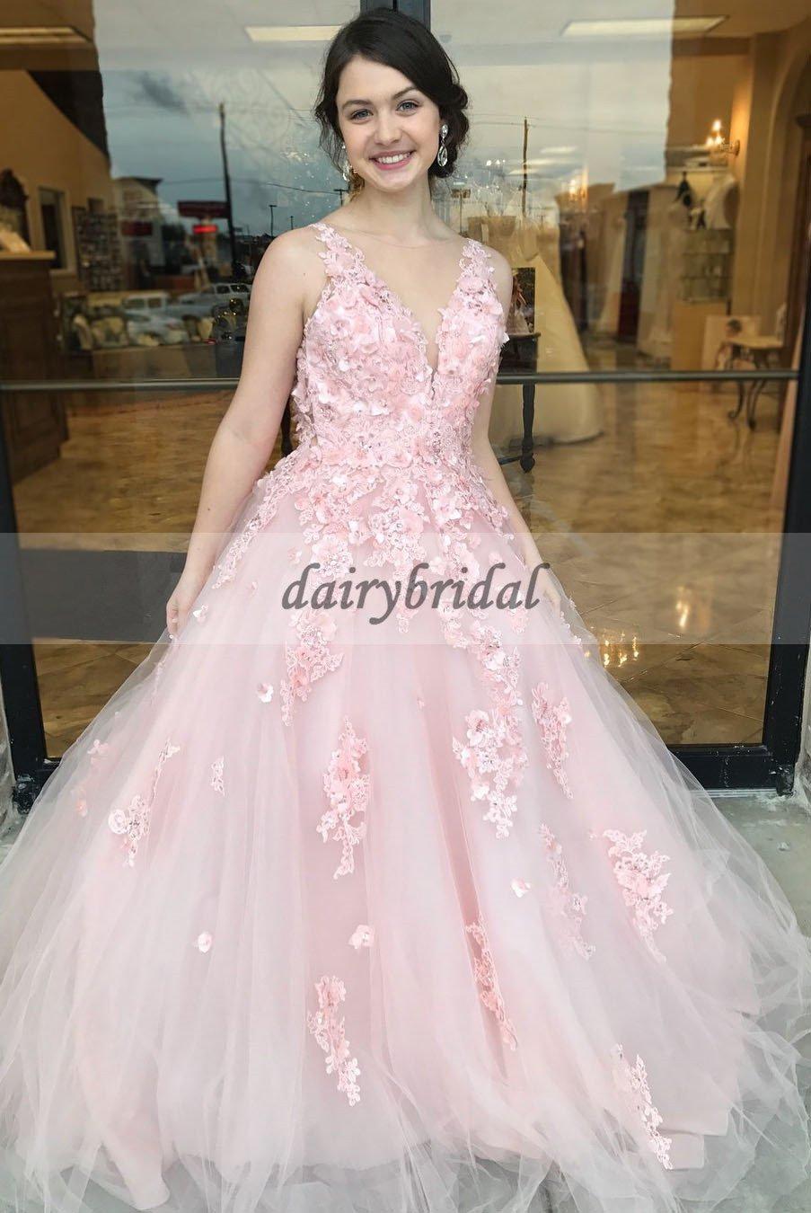 Boat neckline tulle applique prom dress charming sleeveless open