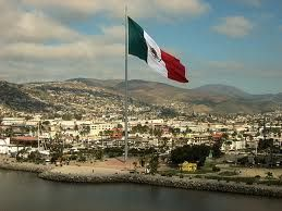 This Is What I Remeber Every Time We Drive Through The Town Is A Massive Mexican Flag Near Some Huge Building Ensenada Mexico Ensenada Baja California Mexico