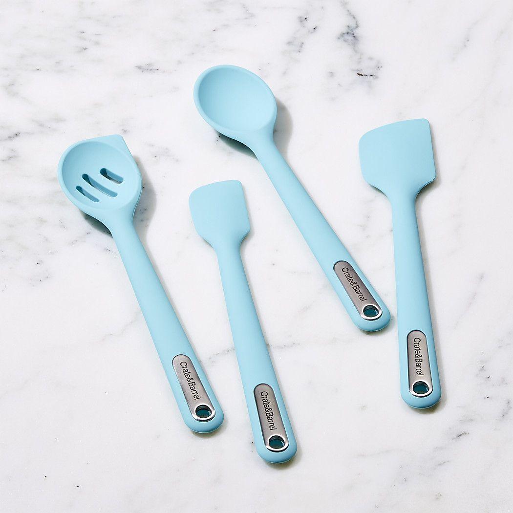 Aqua Silicone Kitchen Tools - Crate and Barrel | want.want.want ...