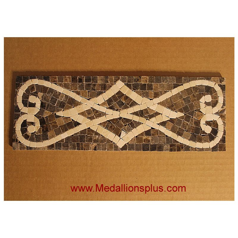 "Old World, Mosaic Tile Listello 4"" x 12"" - MedallionsPlus ..."