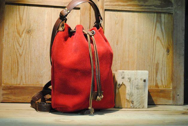 52410a522 Bolso de cuero y lona - mochilas y bolsos - accesorios y moda mujer - hecho  a mano en DaWanda.es