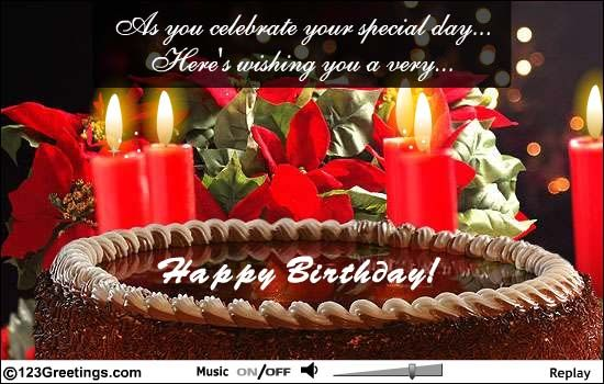 Christmas theme e card for michaels next one birthday pinterest cakes and candles to wish your beloved a very happy birthday free online a lovely birthday message ecards on birthday bookmarktalkfo Choice Image