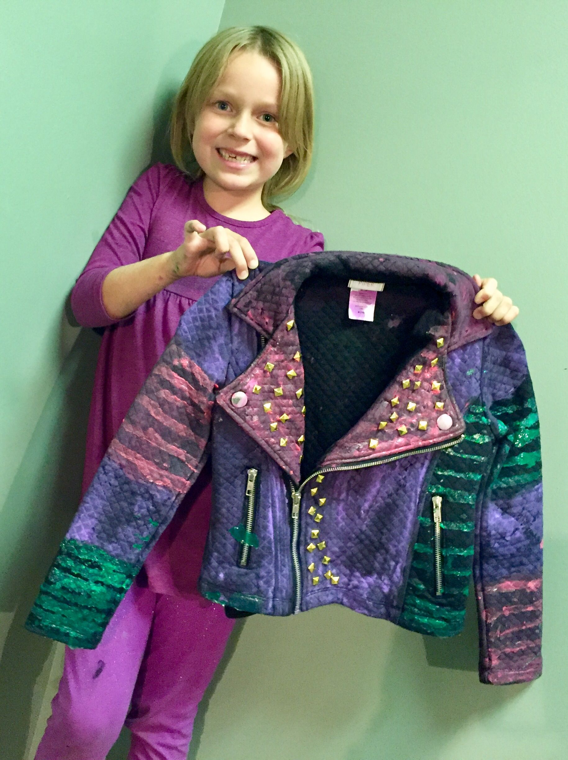 DIY MAL JACKET - Disney Descendants- Watch the video and make your own jacket for. Diy CostumesHalloween ...  sc 1 st  Pinterest & DIY MAL JACKET - Disney Descendants- Watch the video and make your ...