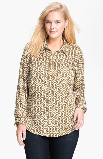 MICHAEL Michael Kors 'Durham' Chain Print Blouse (Plus) available at #Nordstrom