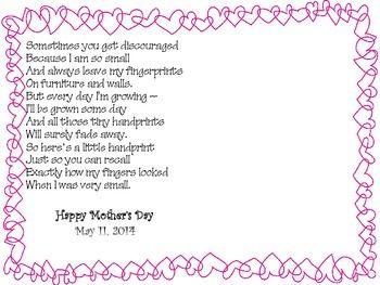 mother 39 s day handprint poem freebie may handprint poem mothers day poems mothers day crafts. Black Bedroom Furniture Sets. Home Design Ideas