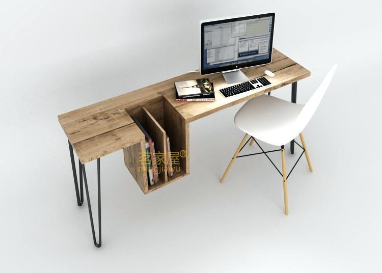 Office Desk Trendy Desks Layout Stylish Computer Simple And Home Wood Desktop Modern
