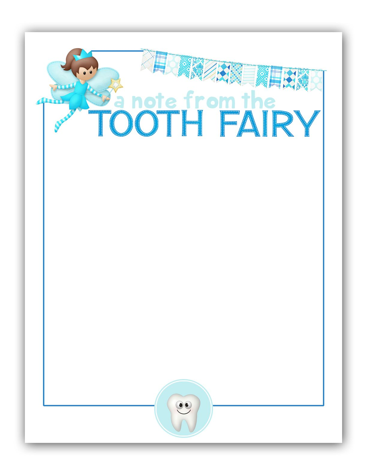 Revered image for free printable tooth fairy letter