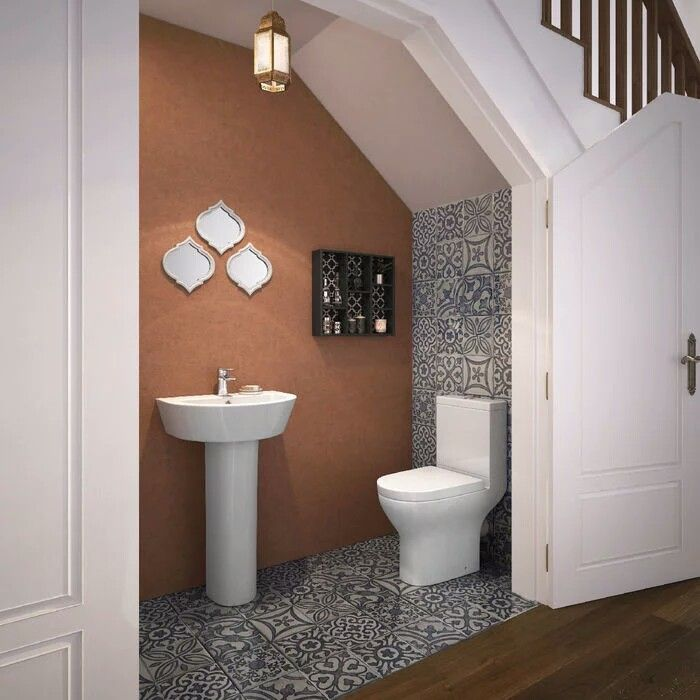 40 Brilliant Under The Stairs Employment Ideas: Bathroom Under Stairs, Small