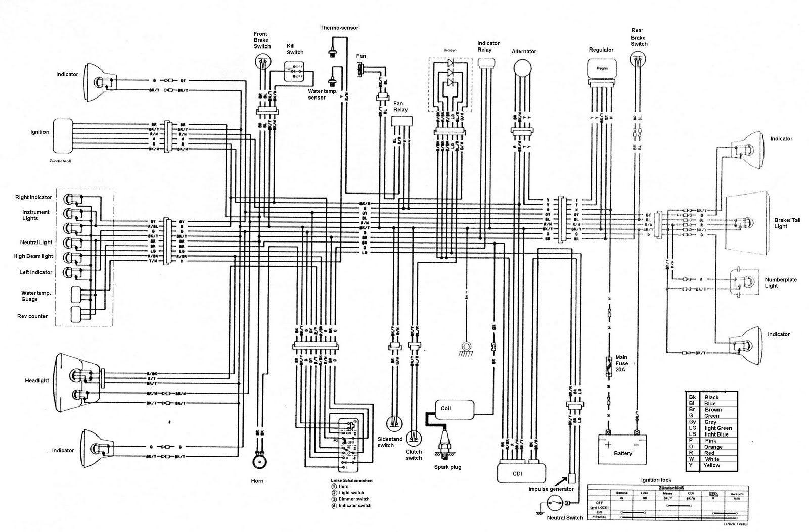 Kawasaki KLR250 KLR 250 Wiring Diagram Mesmerizing