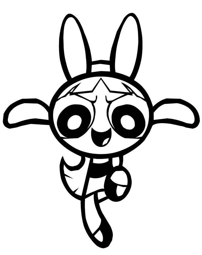 Powerpuff Girls Blossom Karate Kick Coloring Page - Powerpuff Girls ...