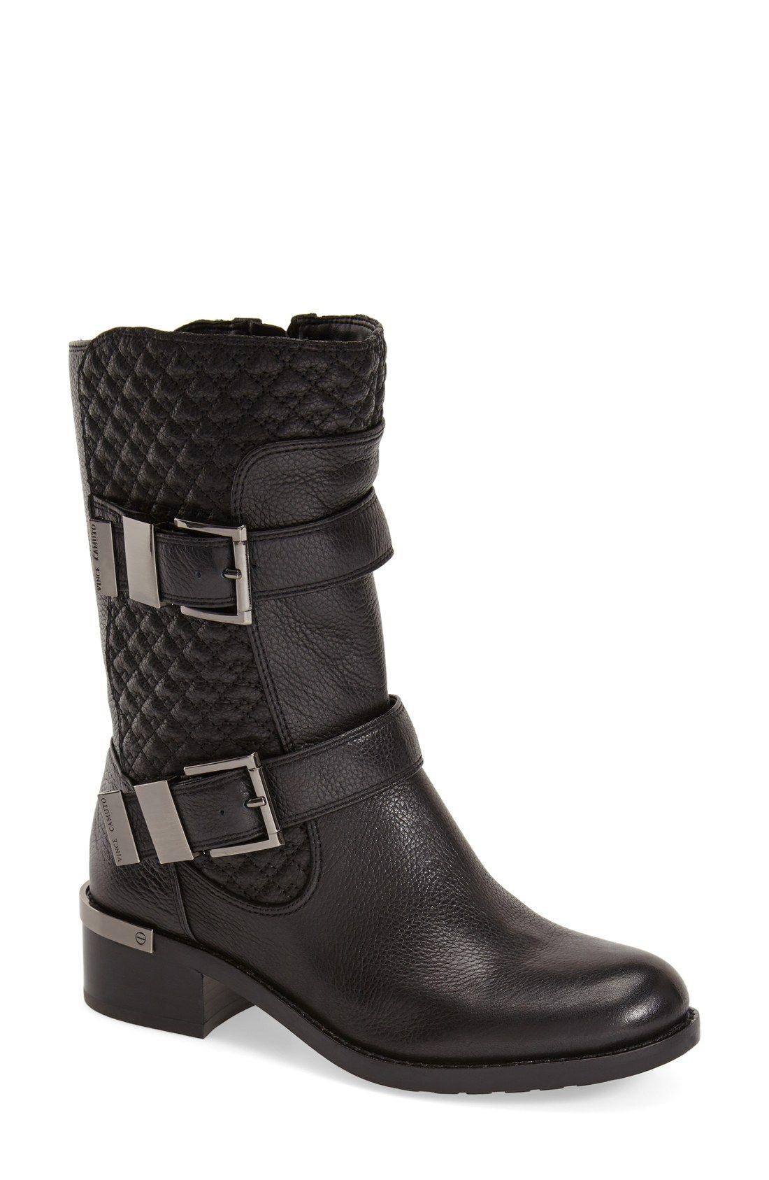 Womens Vince Camuto Women's Welton Motorcycle Boot Outlet Genuine Size 37