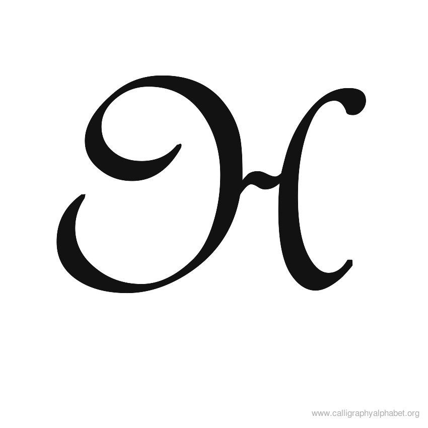 Uppercase Calligraphy Alphabet 850 850 H Pinterest