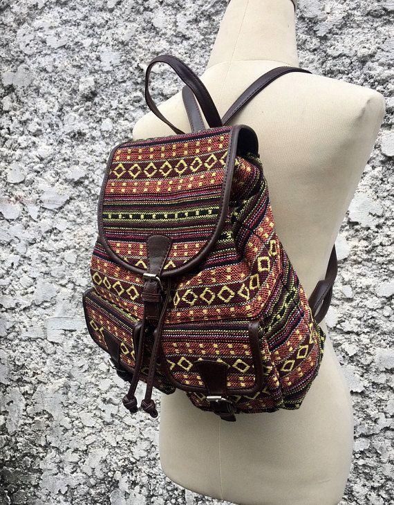 Tribal Ethnic style Backpack Boho School Festival Hipster bags ... 9e168bba10