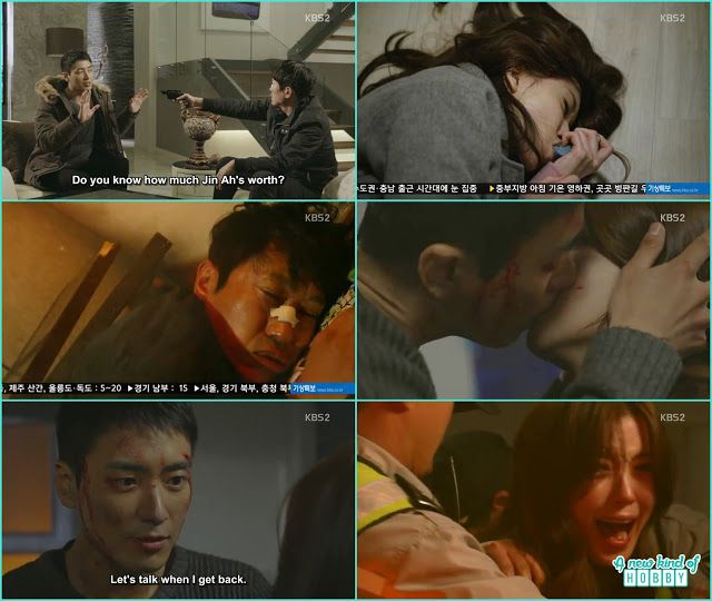 chul soo saved jin ah from the fire and kissed her - Naked Fireman - Episode 4