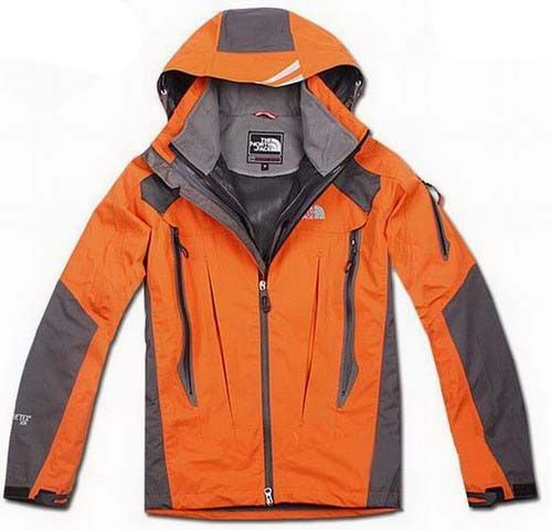 eec94f64340 Mens The North Face Triclimate 3 In 1 Jacket Orange Gray