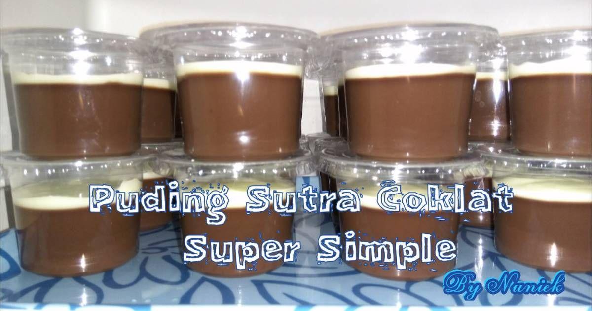 Resep Puding Sutra Coklat Super Simple Super Irit Oleh Nuniek Resep Coklat Puding Coklat Puding