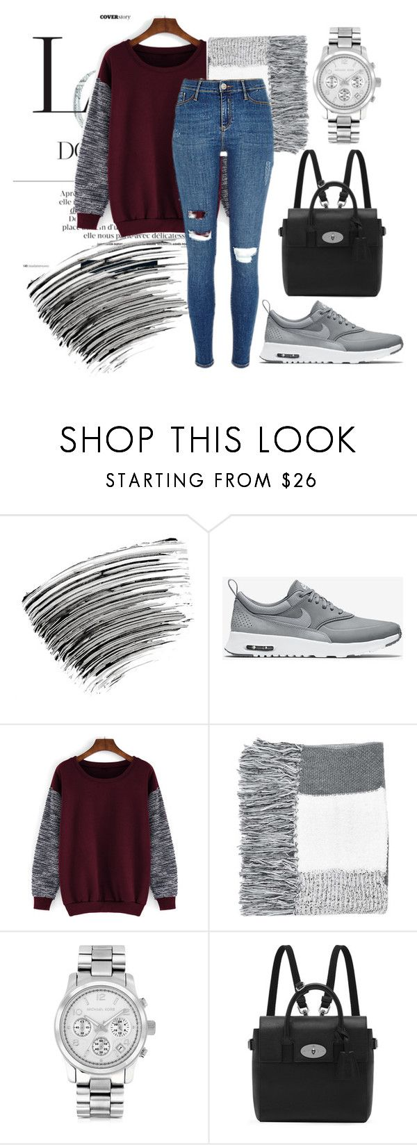 """""""Sweater Weather"""" by marieeek on Polyvore featuring Bobbi Brown Cosmetics, NIKE, Topshop, Michael Kors, Mulberry, CasualChic, sweaterweather, winterstyle and wintersweaters"""