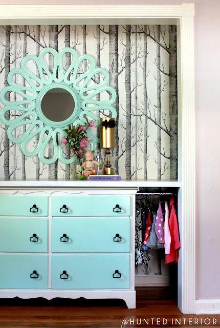 Closet redo.. Color of Mirror & dresser
