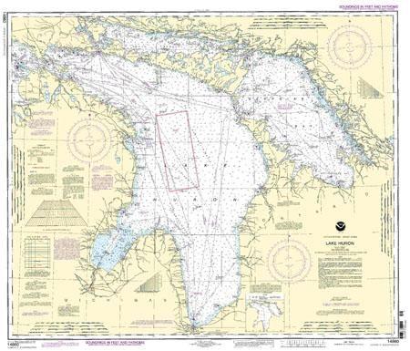 Lake Huron Nautical Map Lake Huron Huron Nautical Map