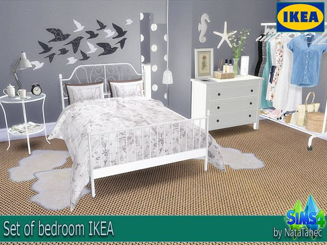 Set Of Bedroom Ikea By Natatanec Sims 4 Cc Mobel Schlafzimmer Set Schlafzimmer Dekorieren