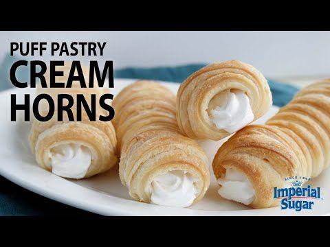 Puff Pastry Cream Horns   Imperial Sugar   Recipe   Puff ...