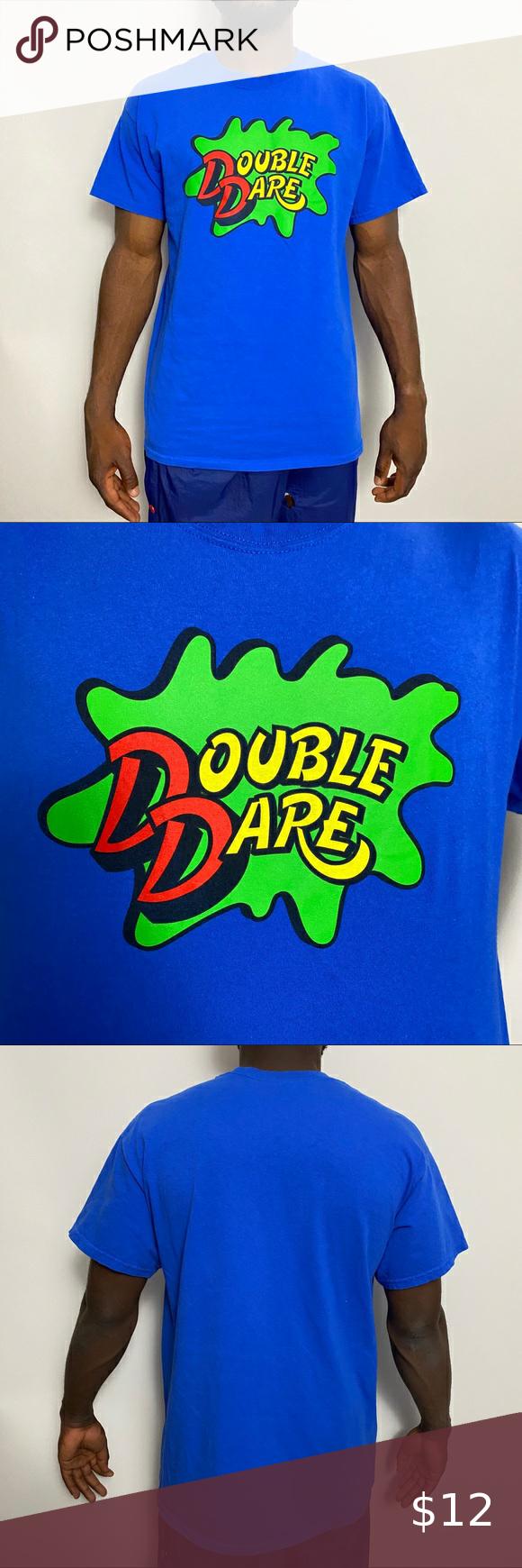 Nickelodeon Double Dare Logo Tee In 2020 Logo Tees American Shirts Gymshark T Shirt