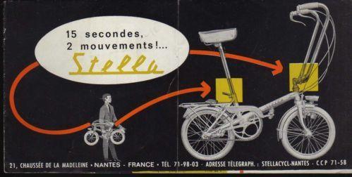 Mini vélo pliant . Galère , on devait pédaler 2 fois plus vite !!