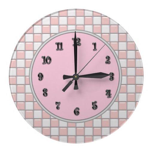 1950 S Retro Wall Clocks Zazzle Com Retro Wall Clock Wall Clock Clock