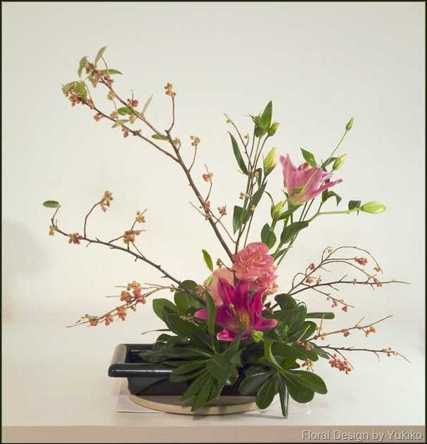 Floral Design By Yukiko Ikebana Showcase Ikebana Beautiful Flower Arrangements Flower Arrangements Simple