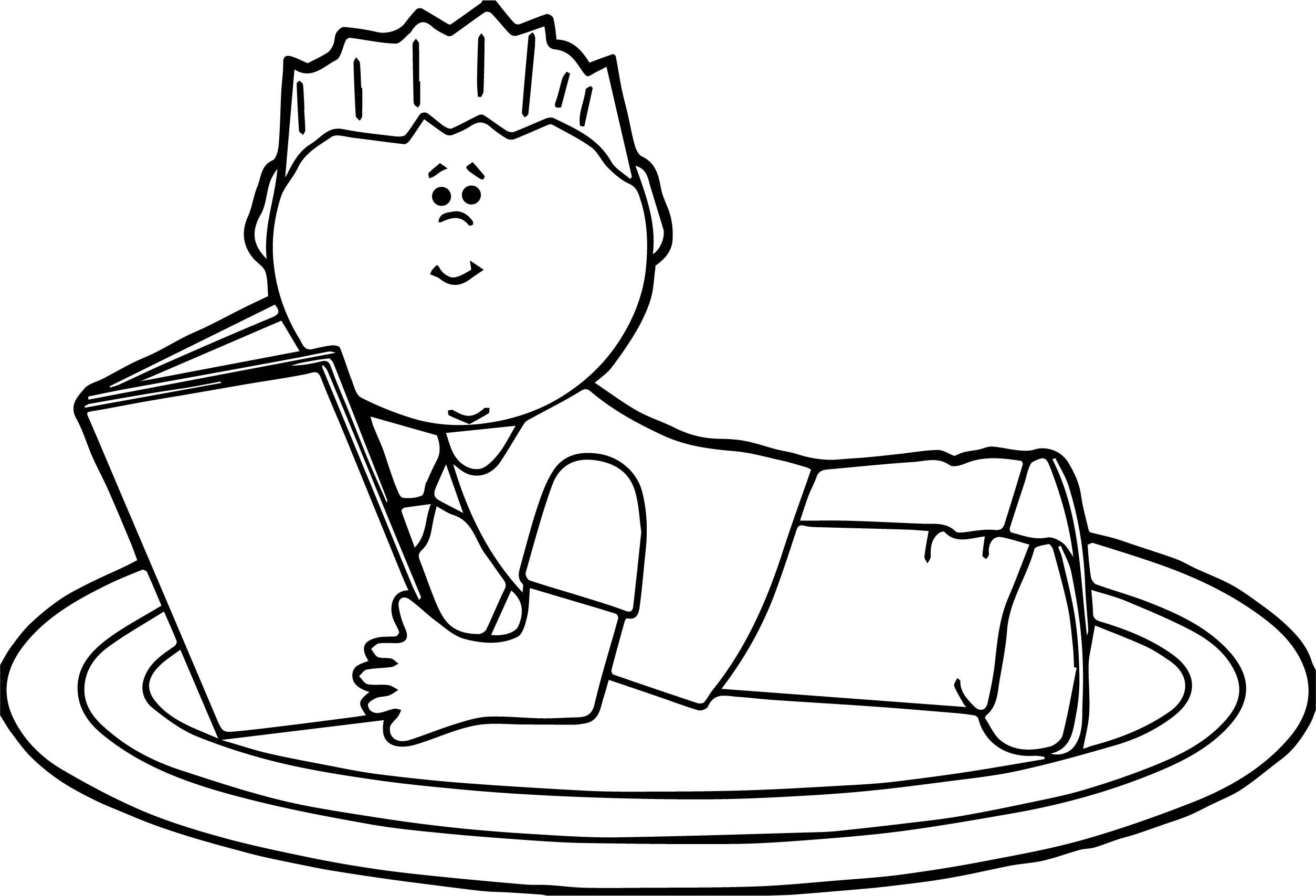 Boy Reading Book Coloring Pages | wecoloringpage | Coloring ...